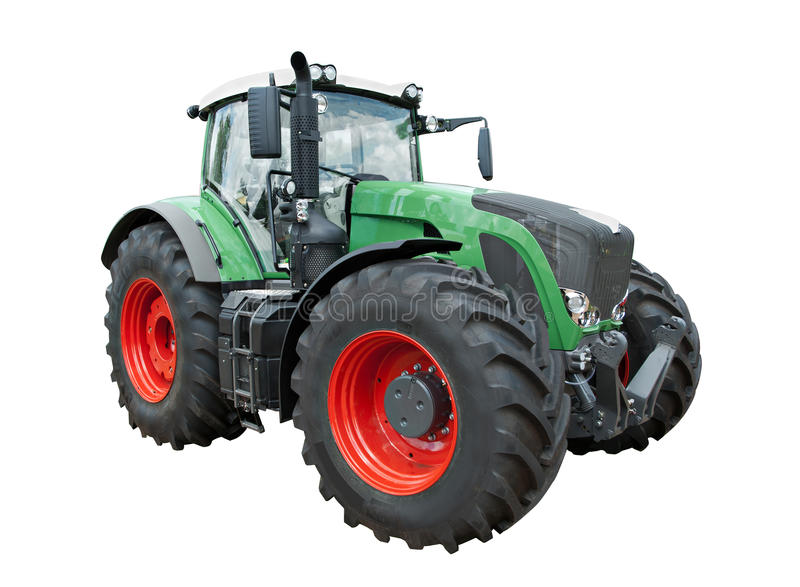Modern traktor arkivbilder