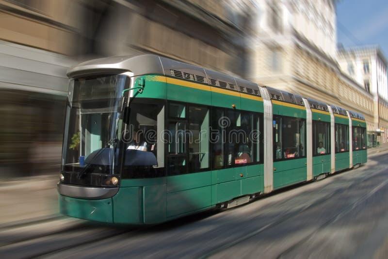Download Modern tram stock photo. Image of urban, downtown, blur - 2948974