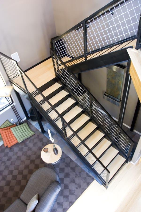 modern trappuppgång arkivbilder