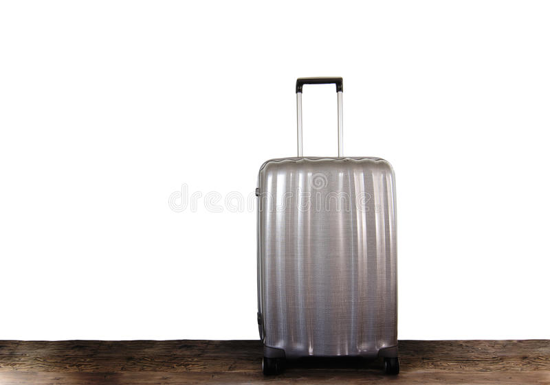 Modern Travel Suitcase stock images