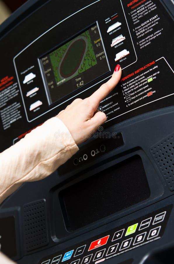 Download Modern treadmill setting stock photo. Image of machine - 28917222