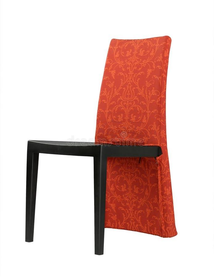 modern trevlig orientalisk röd stil för stol fotografering för bildbyråer