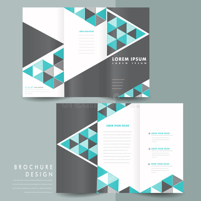 Modern TriFold Brochure Template Design Stock Vector  Illustration