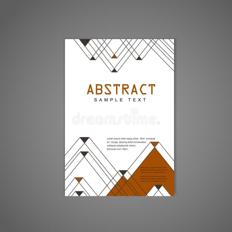 Modern triangle pattern background poster stock illustration
