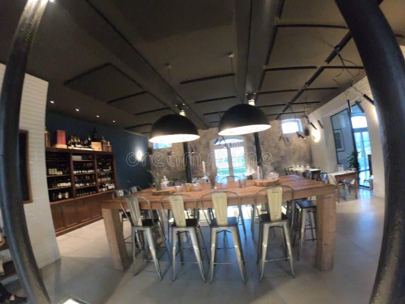 Modern Tuscany restaurant bar royalty free stock photos