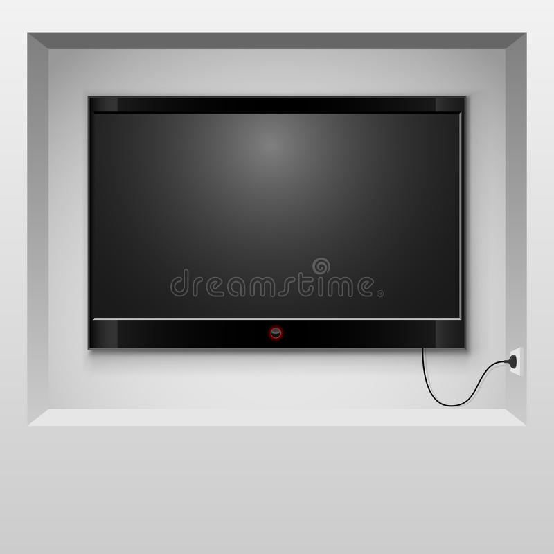 Download Modern TV stock vector. Image of flat, home, domestic - 33924471