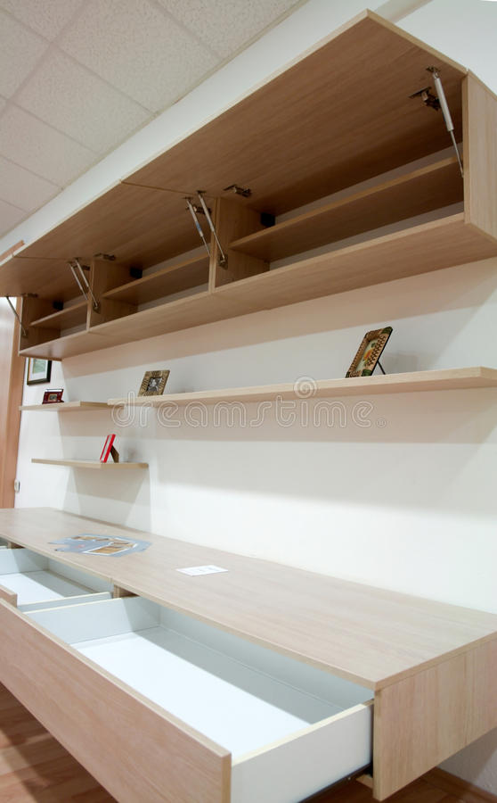 Modern tv wall unit stock photos