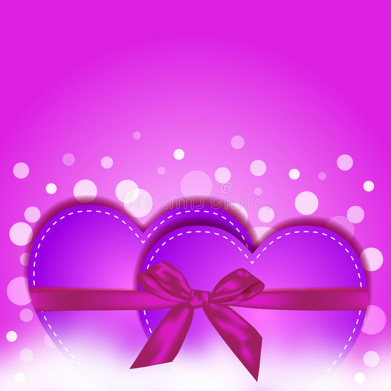 Download Pink heart gift stock vector. Image of greeting, darling - 29774444