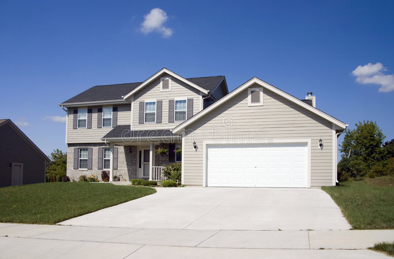 Modern Two Story Home stock photography