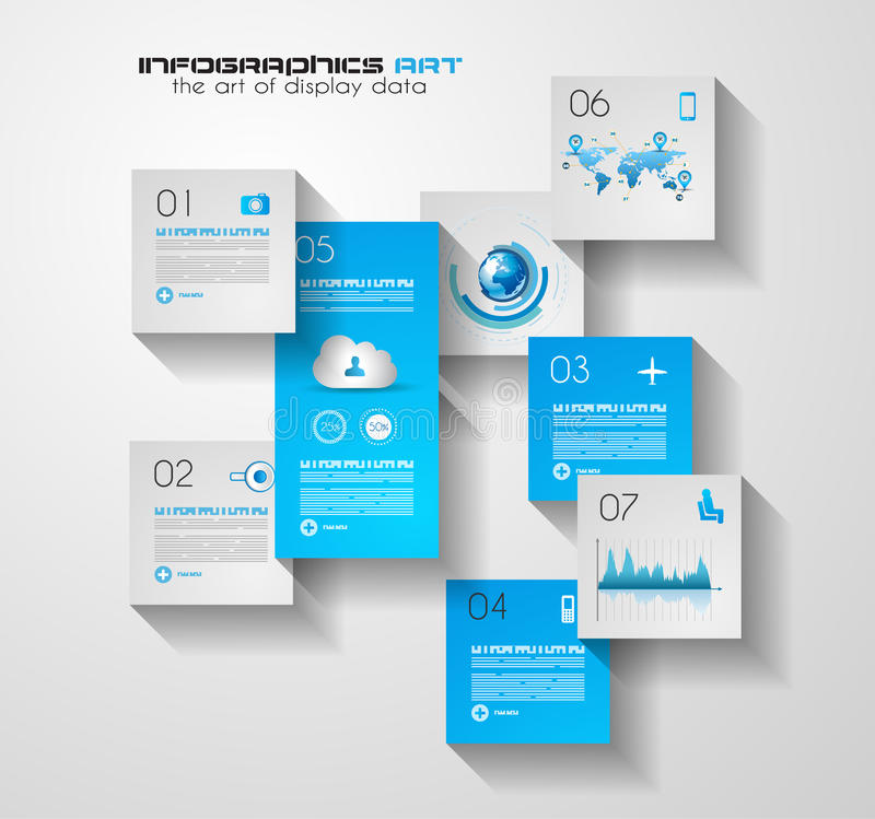 Modern UI Flat style infographic layout for data display royalty free illustration