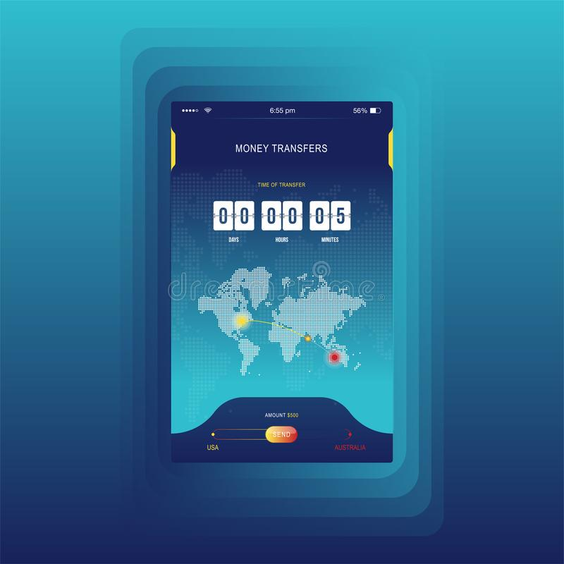 Modern ui mobile app for online transfer money with timer countdown mobile app for online transfer money with timer countdown ux application gumiabroncs Image collections