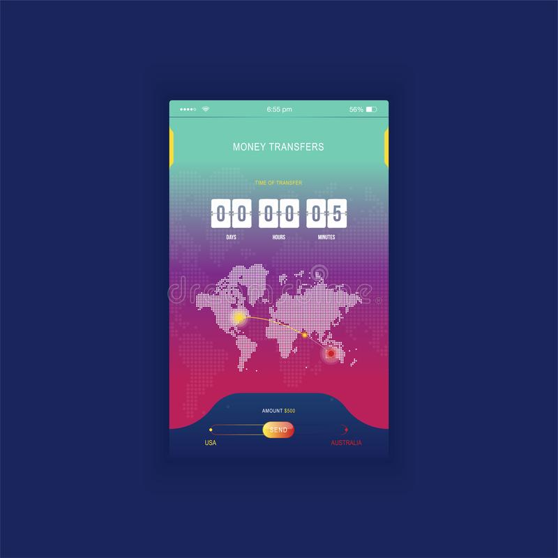 Modern ui mobile app for online transfer money with timer mobile app for online transfer money with timer countdown ux application gumiabroncs Gallery