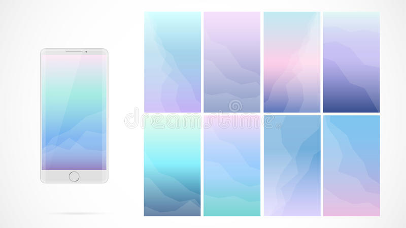 Download Modern UI Screen Design For Mobile App With Web Icons Stock Vector