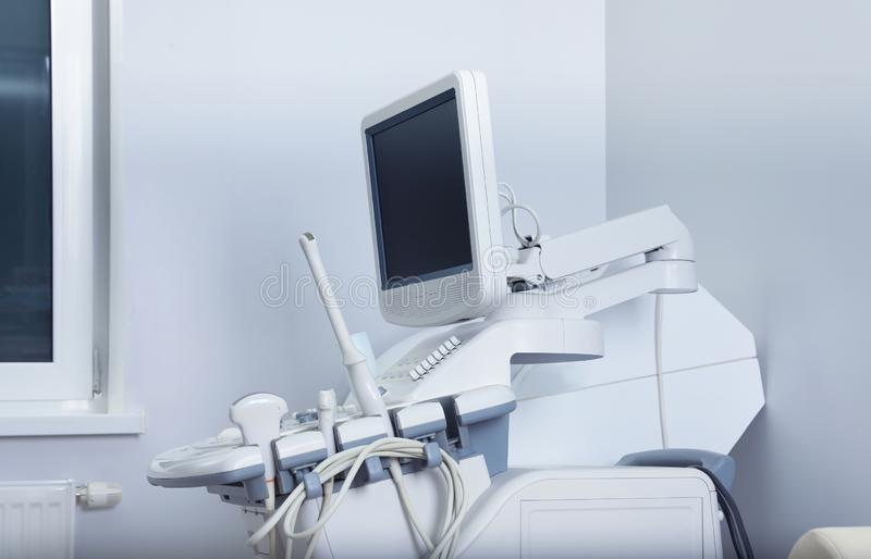 Modern ultrasound machine in office. Diagnostic technique royalty free stock photography
