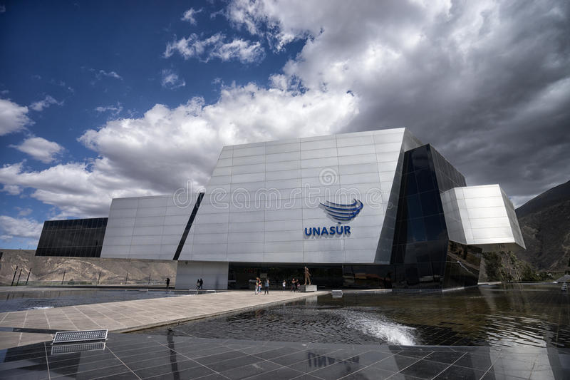 The modern UNASUR building in Quito Ecuador stock photos