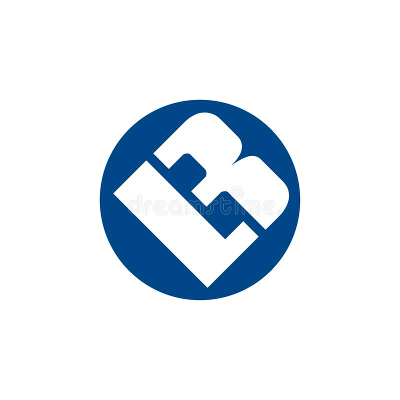 Modern unique creative stylish circular shaped artistic  LB BL L B initial based letter icon logo. royalty free illustration
