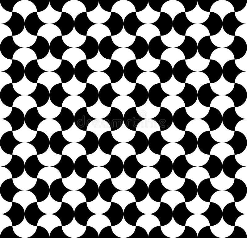 Modern upprepande sömlös modell av runda former för repetition stilfull texturvektor geometrisk bakgrund också vektor för coreldr royaltyfri illustrationer