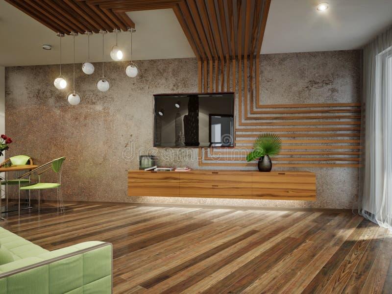 Modern Urban Contemporary Living Room Interior Design Stock ...