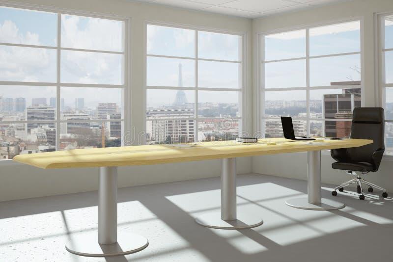 Modern urban office room stock illustration