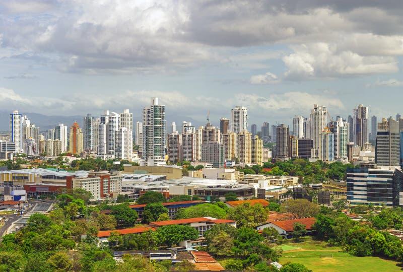 Panama City Skyline at Sunrise, Panama stock images