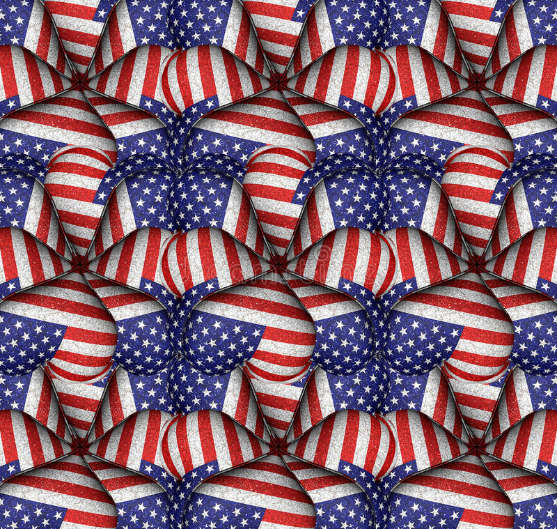 Modern Usa Flag Pattern stock photography
