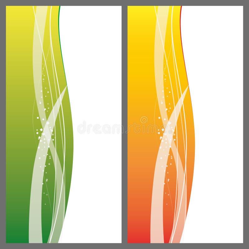 Modern vågdesign av ett baner royaltyfri illustrationer
