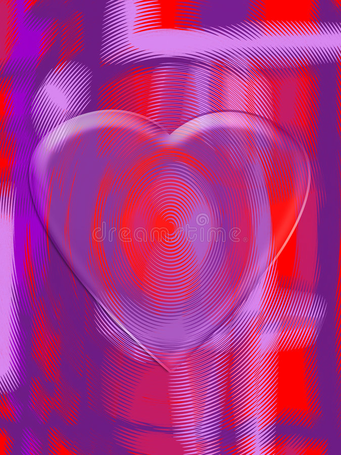 Modern Valentine design. Modern painterly Valentine design with a transparent heart on a fingerprint vector illustration