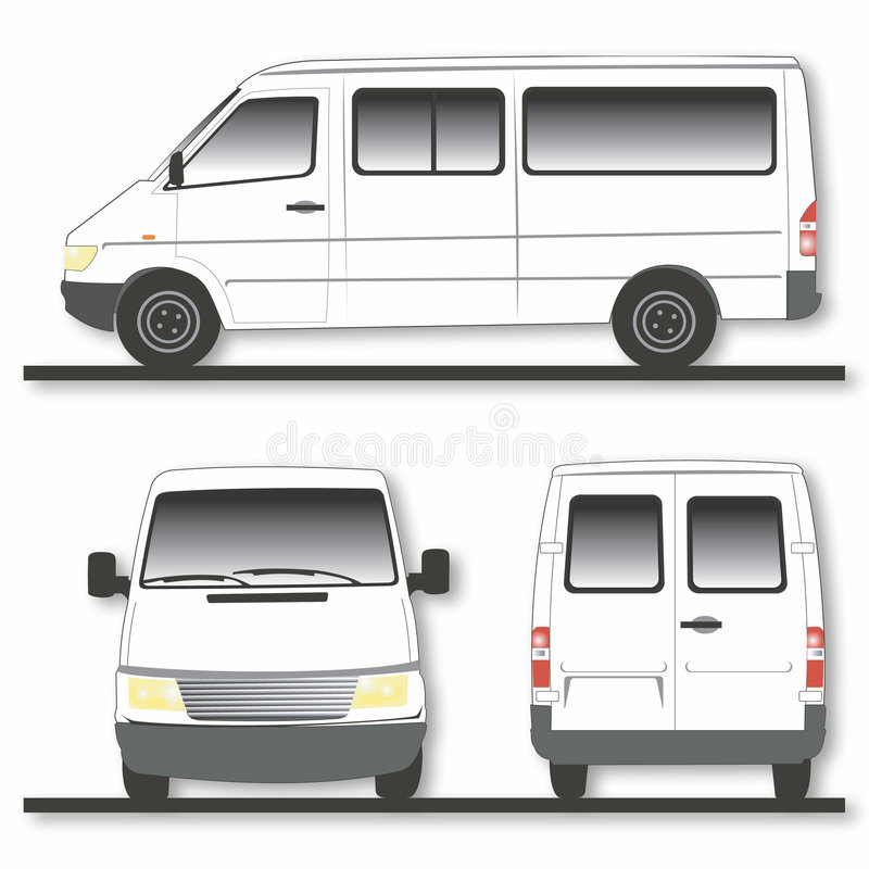 Download Modern van stock vector. Illustration of white, view, windows - 158842
