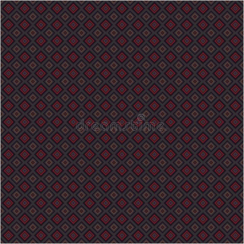 Modern van Achtergrond Argyle Color Fabric Tiles Vector Retro Naadloos Textuurpatroon stock illustratie