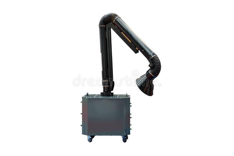 Modern van industriële kapwapen voor zuigingsrook of dampmachine van lassen of multifunctioneel gebruik dat op witte achtergrond  royalty-vrije stock fotografie