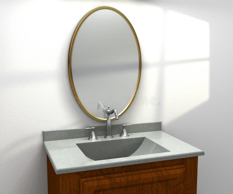 Download Modern Vanity Sink stock illustration. Image of wall - 10924285