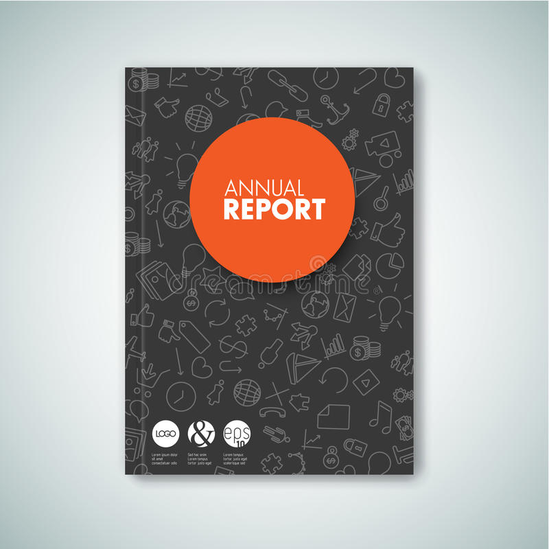 Modern Vecto-brochure/boek/vliegerontwerpmalplaatje vector illustratie