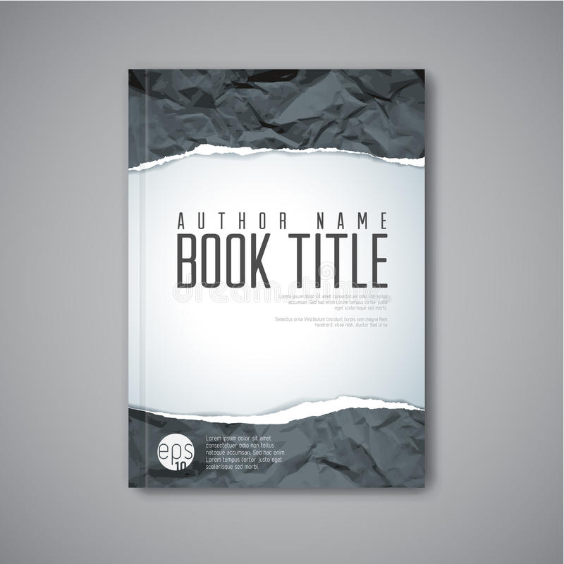 Modern Vector abstract book cover template stock illustration