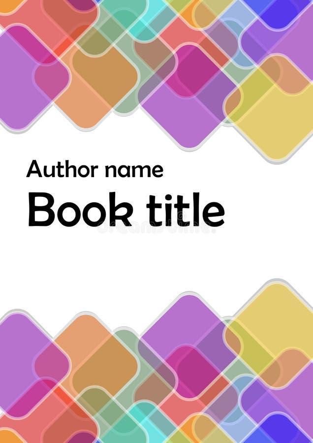 Modern vector abstract brochure/boek/vliegerontwerpmalplaatje met regenboog transparante overlappende vierkanten vector illustratie