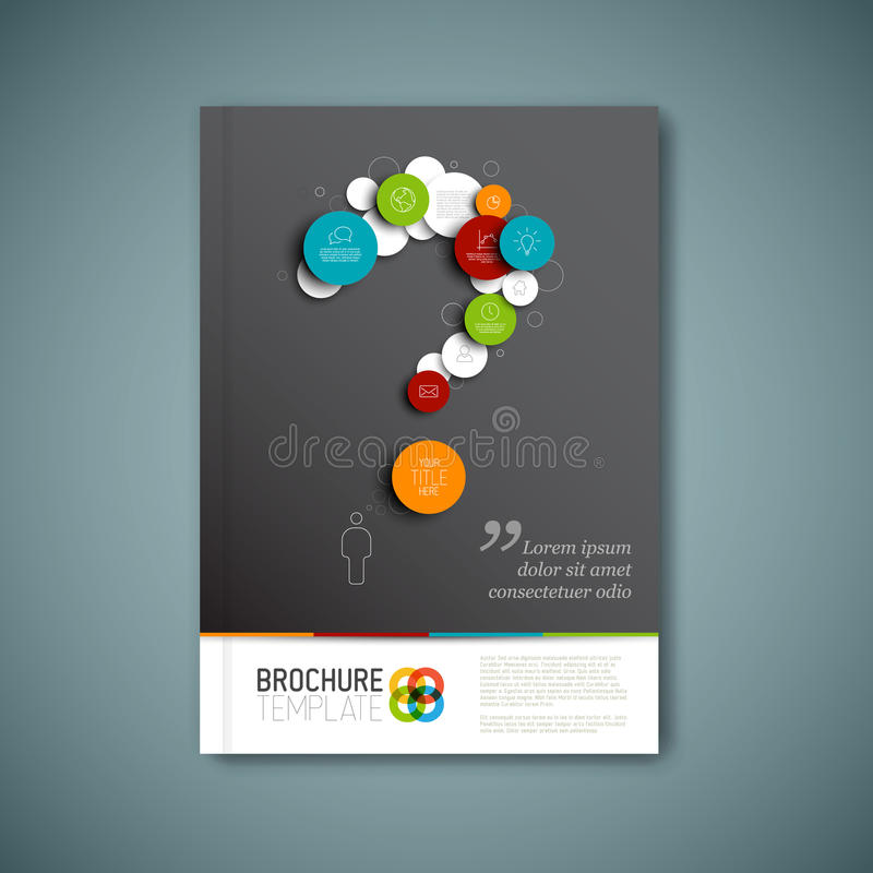 Modern Vector abstract brochure report design template stock illustration