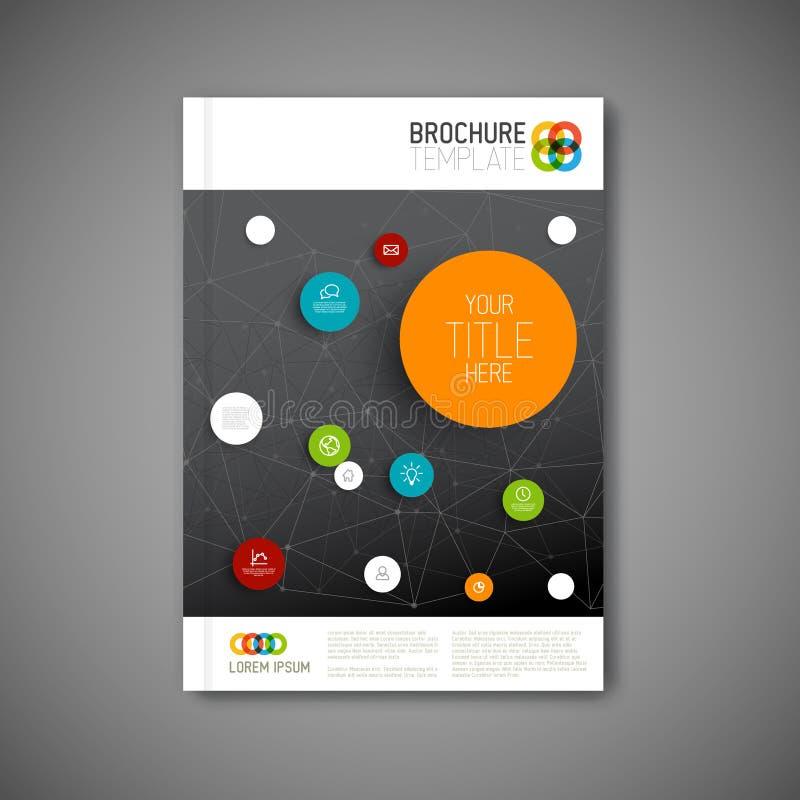 Modern Vector abstract het ontwerpmalplaatje van het brochurerapport stock illustratie