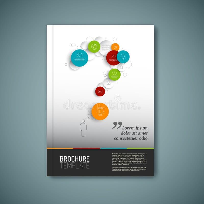 Modern Vector abstract het ontwerpmalplaatje van het brochurerapport vector illustratie