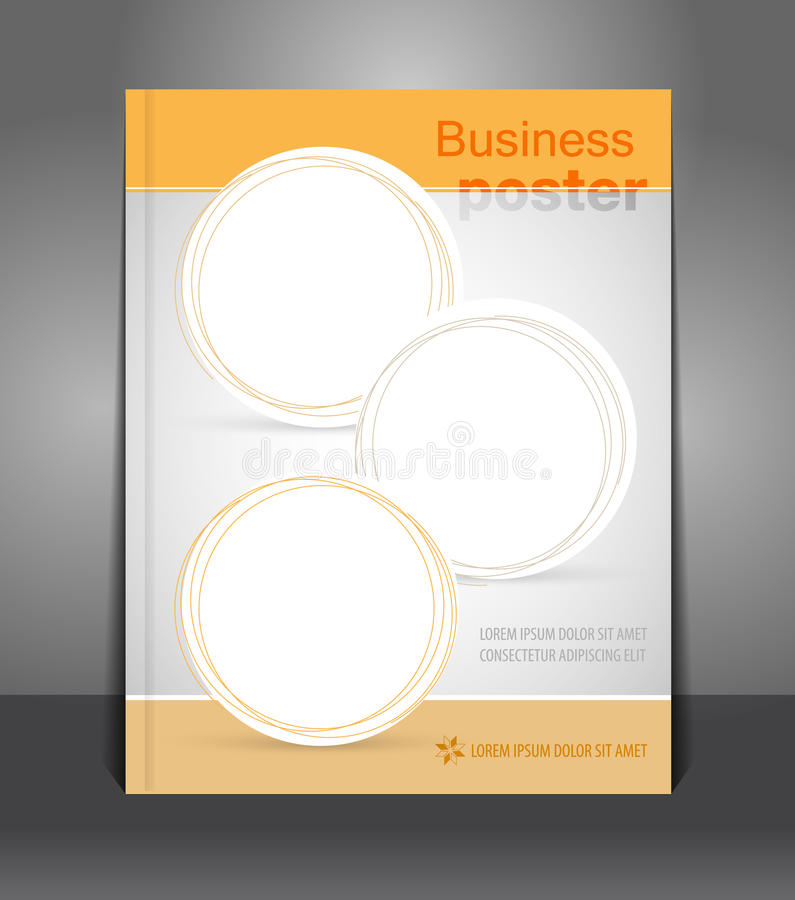 Modern vector abstract modieus pamflet stock illustratie
