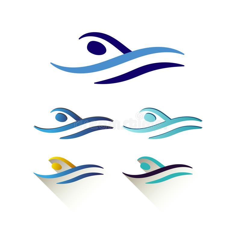 Modern vector abstract swimming logo stock vector for Pool design software free download
