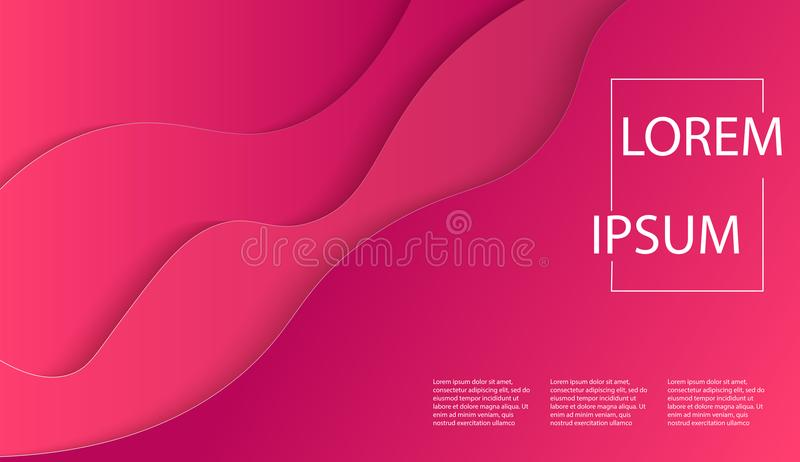 Modern vector art poster flyer template with red paper cut effect. banner, flyer, poster or web site stock illustration
