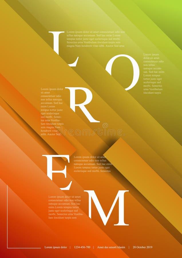 Modern art poster template vector illustration