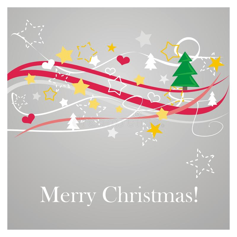 Download Modern Vector Christmas Card With Wishes Stock Vector - Illustration: 21890835