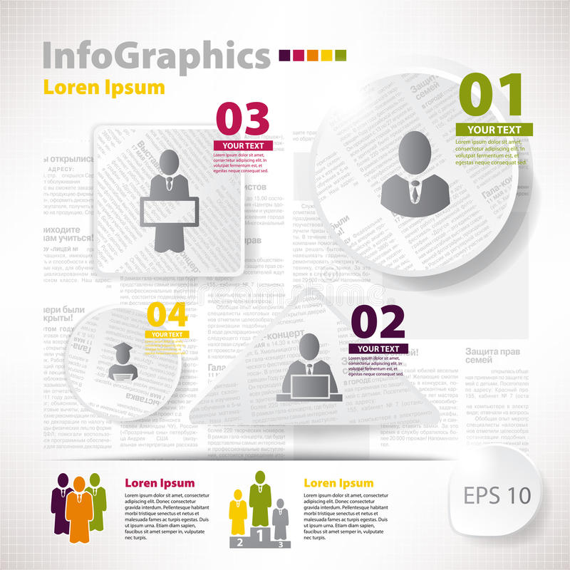 Download Modern Vector Elements For Infographics With Scraps Newspaper Stock Vector - Image: 35244848