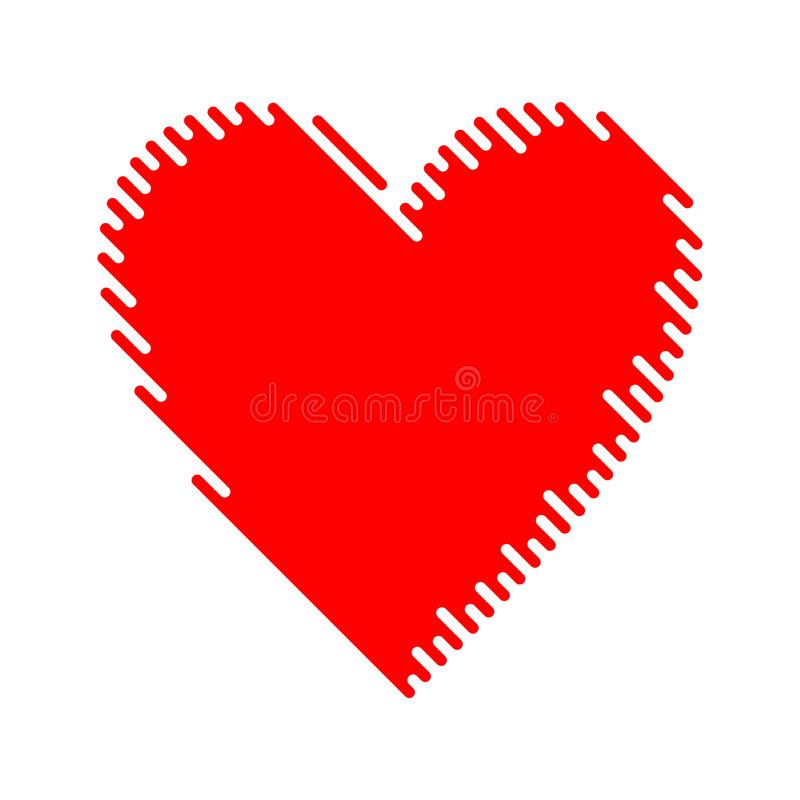 modern vector flat heart icon valentines day symbol isolated on rh dreamstime com heart icon vector image heart icon vector free