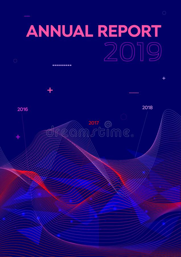 Modern vector flyer, annual report, brochure cover, background with statistics wave in violet color.  stock photos