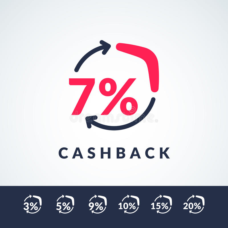 Modern Vector Illustration Of Cash Back With The Boomerang