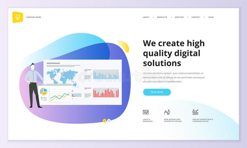 Website template design stock illustration