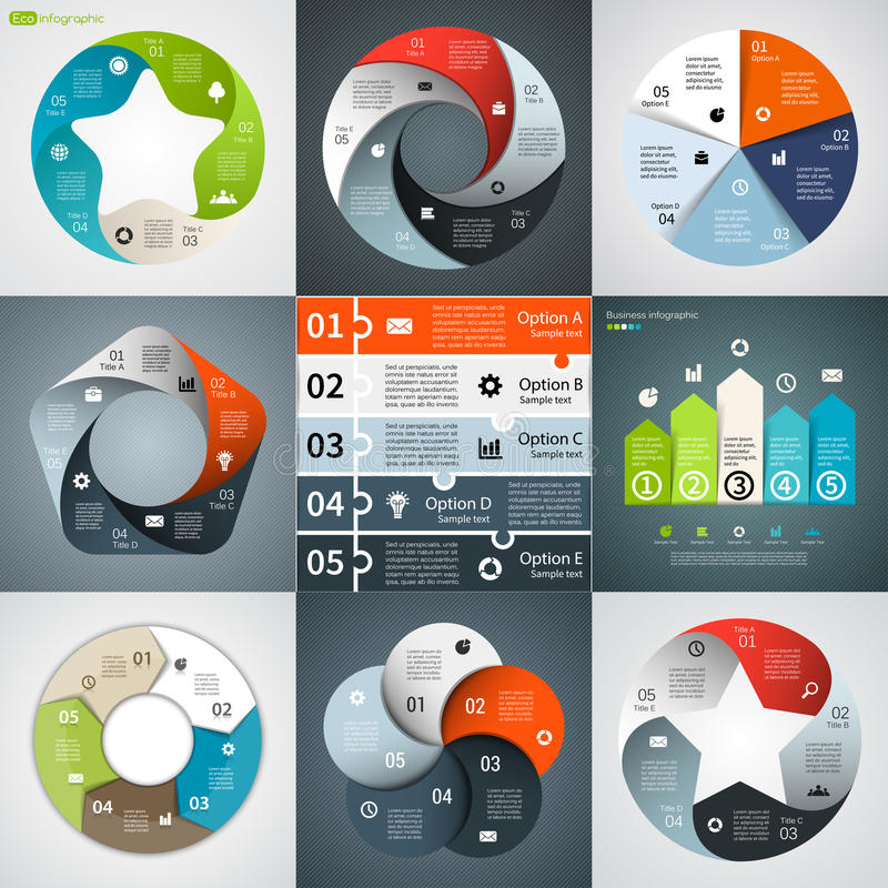 Modern vector info graphic for business project. Layout for your options or steps. Abstract template for background royalty free illustration