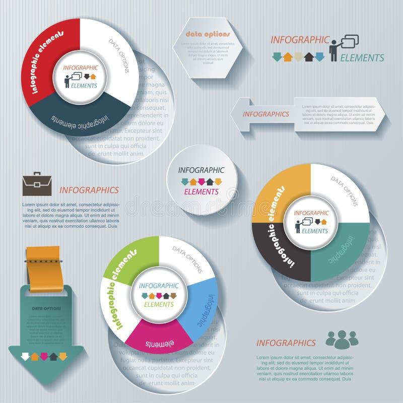 Modern vector infographic template vector illustration