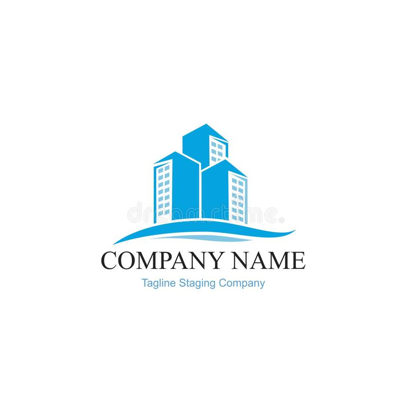 Logo Modern Building Home and rent home. Modern Vector logo for contruction home or rent home apartment stock illustration